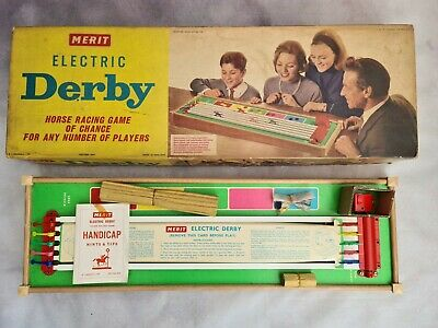 £72 • Buy Vintage Electric Derby Horse Racing Game By Merit - COMPLETE AND WORKING