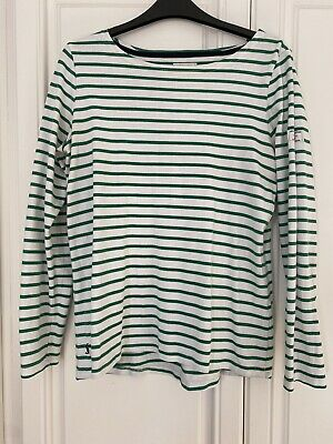 £12.50 • Buy Joules Womens Striped Top Green And White Size 12