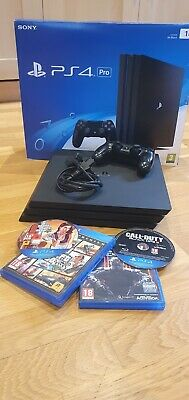 AU81.15 • Buy Sony PS4 Pro 1tb Console Bundle With 2x Games. All Items Excellent Condition