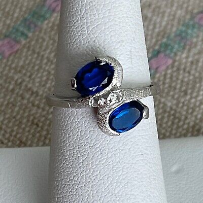 AU378.48 • Buy Sapphire And Diamond White Gold Ring, Size 6