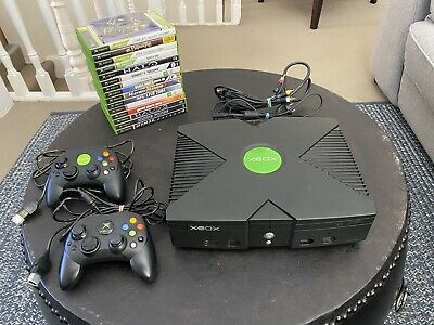 AU51 • Buy Microsoft Xbox Original Console With 16 Games & 2 Controllers🔥GREAT BUNDLE🔥