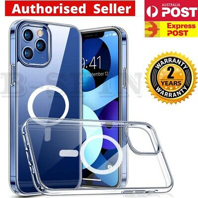 AU12.99 • Buy For IPhone X XR 11 12 13 Pro Max Mini Magsafe Case Clear Magnet Shockproof Cover