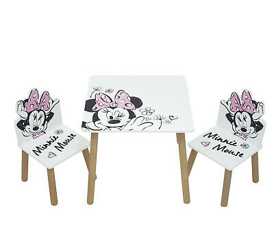 £59.99 • Buy Disney Minnie Mouse Classic Table & 2 Chairs Set By Nixy Children