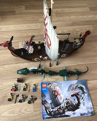 £149.99 • Buy Lego Set No 7018 Viking Ship Challenges Midgard Serpent As Pictured