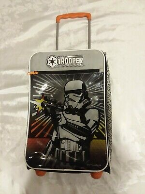 View Details Star Wars Storm Trooper Suitcase American Tourister 18  Rolling Luggage Disney  • 55$