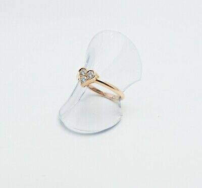 £656.25 • Buy Tiffany & Co. Ring Pink Gold 3P Diamond Sentimental Heart Ring US Size 6 #070310