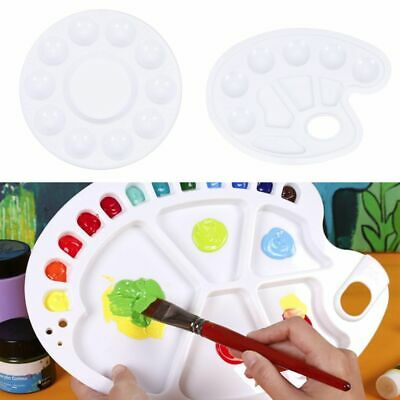£2.02 • Buy Thumb Hole Nail Supplies Paint Tray Painting Pallet Paint Palettes Drawing Tray