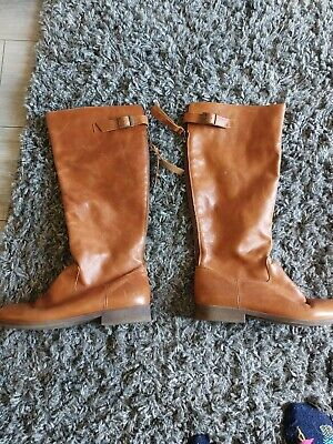 £21.99 • Buy Office Tan Leather Knee High Boots 39 6