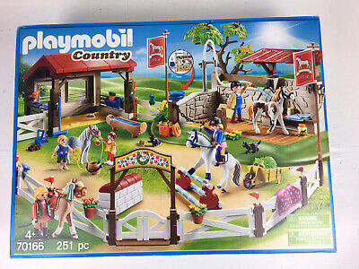 £70 • Buy BOXED Playmobil Country 70166 Horse Farm Jumping Show Stable Equestrian Playset