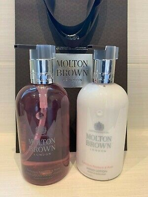 £43.50 • Buy Molton Brown Delicious Rhubarb & Rose Hand Wash And Lotion Gift Set2 X300ml NEW