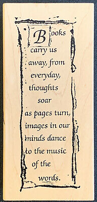 £5.09 • Buy Art Impressions P-2125 Books Carry Us Away…Music Of The Words Rubber Stamp