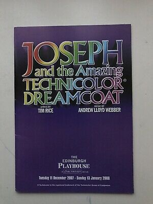 £3.95 • Buy JOSEPH AND THE AMAZING TECHNICOLOR DREAMCOAT Theatre Programme Craig Chalmers