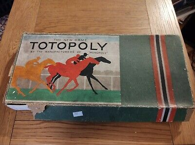 £10 • Buy Totopoly Board Game By Waddingtons Vintage Edition Horse Racing Game No Board