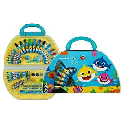 £12.99 • Buy Baby Shark Art Set, Colouring Carry Case Creative Gifts For Kids Children 50 Pcs