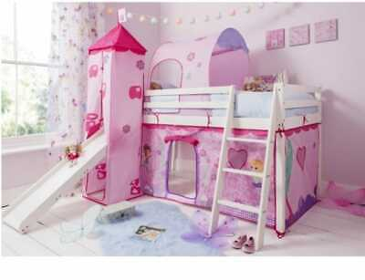 £200 • Buy  USEDMoro Cabin Bed Midsleeper With Slide & Fairies Package In Classic White