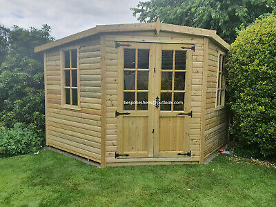 £1595 • Buy Corner Summerhouse Shed Man Cave Garden Room Summer House Fitted See Below