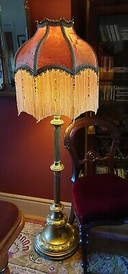 £279 • Buy Mitford. Victorian Downton Beaded Lampshade.terracotta & Gold Damask 18 .