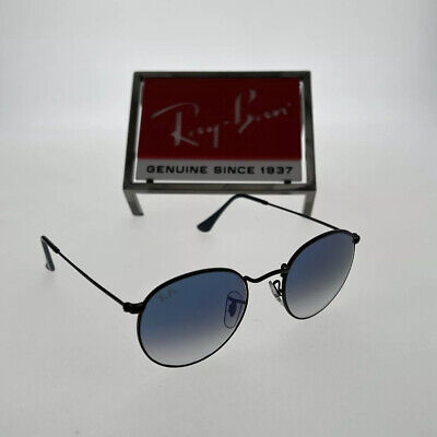 AU87.55 • Buy Ray-Ban RB3447 Round Metal 006/3F Blue Gradient Lens With Black Frame 50mm