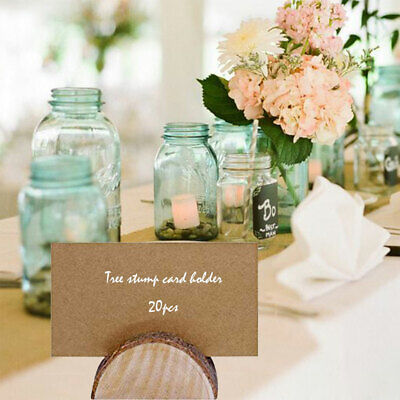 £11.19 • Buy 20PCS Wooden Table Card Holder Stand Number Place Name Menu Wedding Party Decor