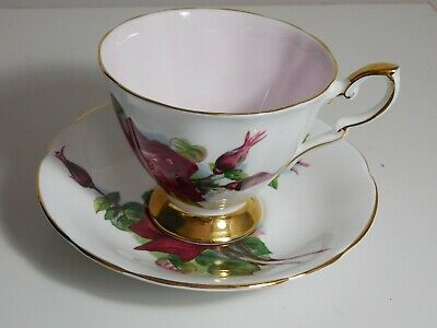 £7 • Buy Vintage Paragon Harry Wheatcroft China Grand Gala Red Rose Tea Cup And Saucer