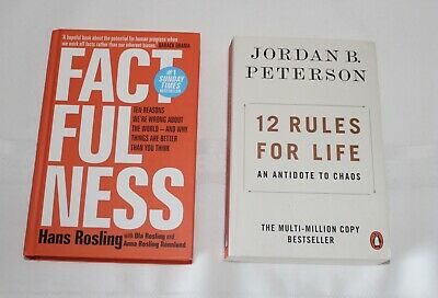 AU35.99 • Buy 12 Rules For Life By Jordan B. Peterson & Factfulness By Hans Rosling