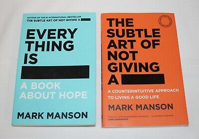 AU35.99 • Buy The Subtle Art Of Not Giving A F*ck & Everything Is F*cked By Mark Manson