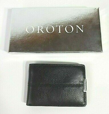 AU48 • Buy OROTON Mens Black Leather Wallet BRAND NEW In BOX Rrp $125