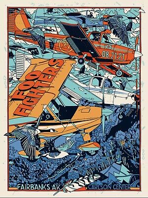 $249 • Buy Foo Fighters Fairbanks Concert Poster RARE - SOLD OUT - Tyler Stout