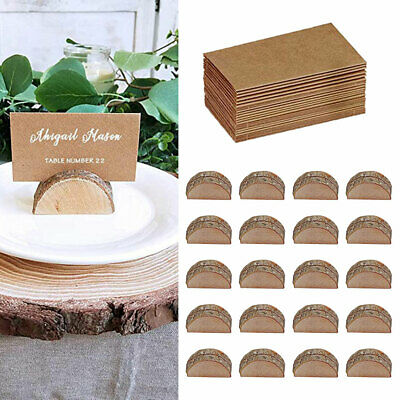 £12.59 • Buy 20PCS Wooden Table Card Holder Stand Number Place Name Menu Party Wedding Decor