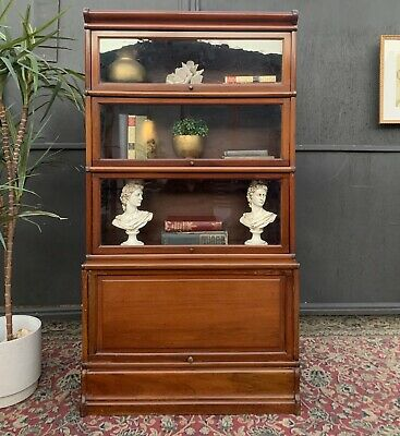 AU2395 • Buy Stunning Rare Antique Barristers Stackable Bookcase Cabinet Bookshelf Storage