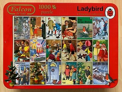 £4.20 • Buy Falcon 'Ladybird Christmas Collection' 1000 Piece Jigsaw In A Tin Complete