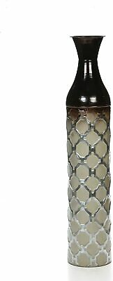 £50.09 • Buy Tall Metal Floor Vase Moroccan Floral Ornament Foyer Fireplace Office Décor Urn