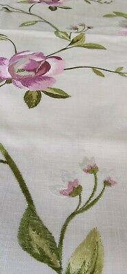 £8.99 • Buy Clarke And Clarke Embroidered Floral Linen