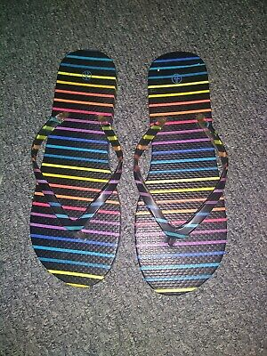 £1.99 • Buy Mens Colourful Striped Flip Flops Size 8. Brand New.