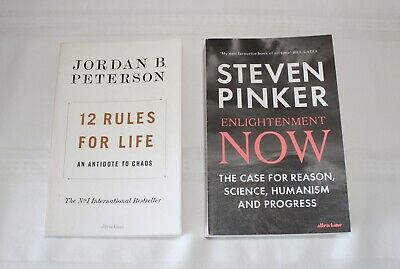 AU39.99 • Buy Enlightenment Now By Steven Pinker & 12 Rules For Life By Jordan B. Peterson