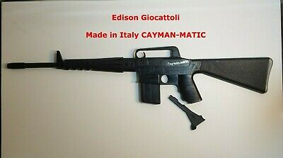 £70.45 • Buy Vintage Edison Giocattoli Rifle Toy Cap Gun Made In Italy CAYMAN-MATIC M-16 RARE