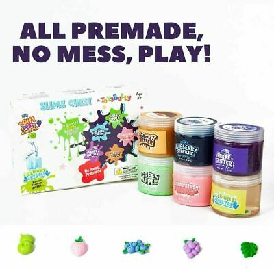AU39.04 • Buy Kids Gift Slime Kit For Girls Boys 6 Different Scented & Premade Slimes In 28 Oz