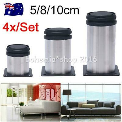 AU16.45 • Buy 4x Adjustable Furniture Legs Stainless Steel Leg Feet For Cabinet Sofa Bed Kit