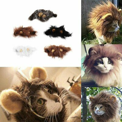 £6.56 • Buy Pet Costume Lion Mane Wig For Cat Halloween Christmas Party Dress Up With Ear#67