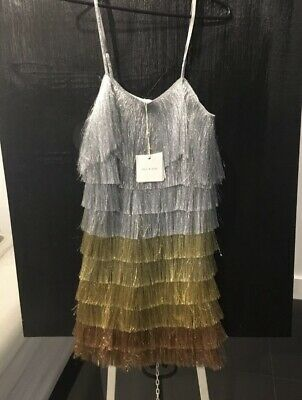AU300 • Buy Sass And Bide Fringed Tassel Dress Never Worn Tags On Size M (10-12) REDUCED