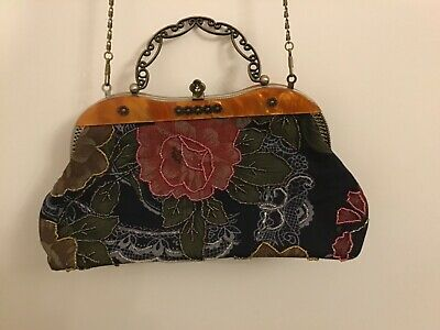£15 • Buy Leko Of London Bag With Brown Fabric And Coordinating Colours