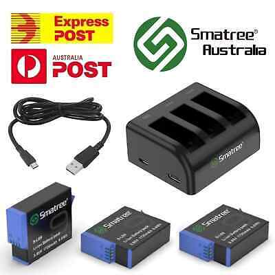 AU32.95 • Buy Smatree Battery And Dual/Triple USB Charger Kit For GoPro HERO 3 4 5 6 7 8 9