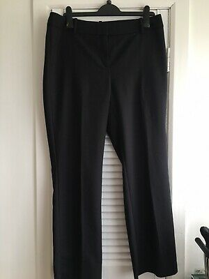 £3.99 • Buy M & S Collection Black Straight Leg Trousers Size 14 Medium With 2 Inch W/Band