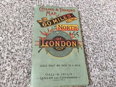 £5 • Buy Vintage Cycling Map Of London