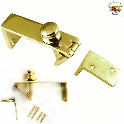 £10.93 • Buy QUALITY SOLID BRASS COUNTER FLAP CATCH With SCREWS Bar Shop Holder Latch Lift Up