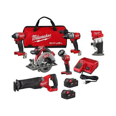 £618.07 • Buy Milwaukee Combo Kit (5-Tool) 18-Volt Li-Ion Brushless Cordless Compact Router