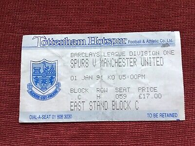 £2 • Buy Match Ticket Tottenham Hotspur V Manchester United Barclays League Division One