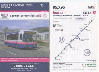 £4.99 • Buy First Borders Scottish Timetable Booklets Bundle (6 Items) 2001/02/03/06/13