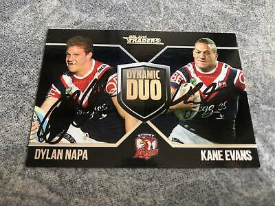 AU150 • Buy Roosters Dylan Napa & Kane Evans Signed Traders 2016 Dynamic Duo Card 5/100