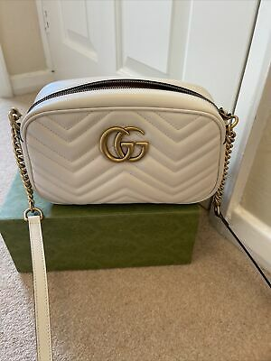 AU1669.02 • Buy Gucci Marmont Small Shoulder Bag In Mateless  Chevron Leather